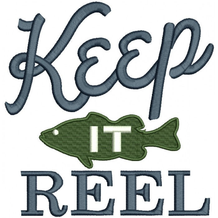 Keep It Reel Fish Filled Machine Embroidery Design Digitized Pattern
