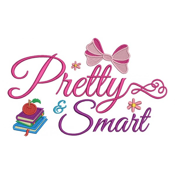 Pretty Smart School Filled Machine Embroidery Design Digitized Pattern