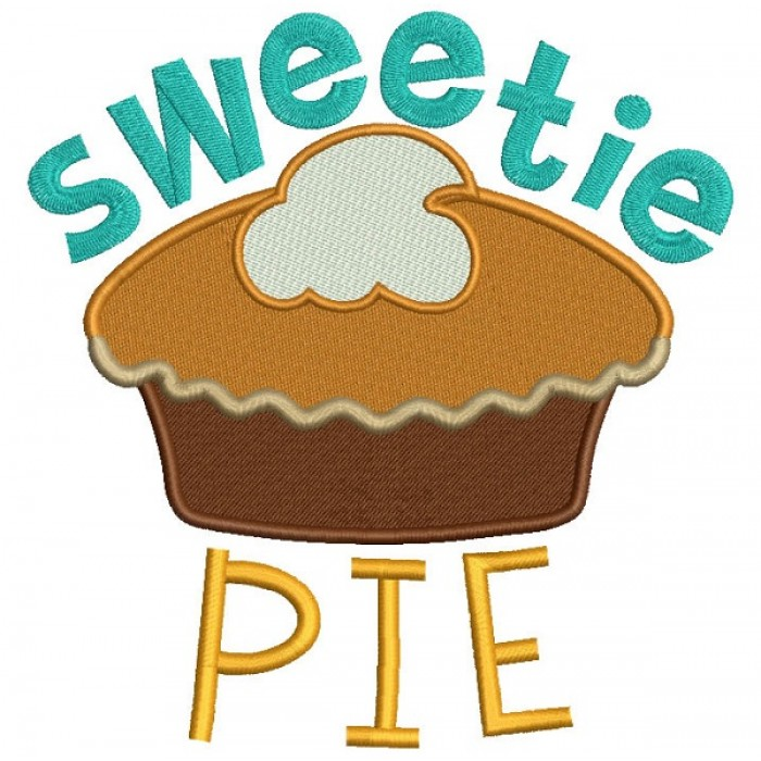 Sweetie Pie Filled Machine Embroidery Design Digitized Pattern