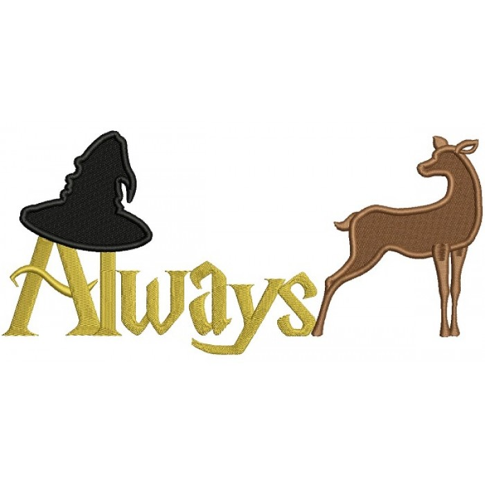 Always Sorting Hat and Patronus Looks Like Harry Potter Filled Machine Embroidery Design Digitized Pattern775
