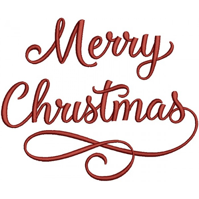 Merry Christmas In Cursive.Merry Christmas Cursive Font Filled Machine Embroidery Design Digitized Pattern