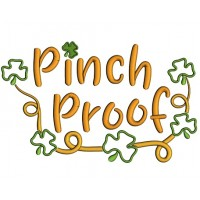 Pinch Proof Shamrock Frame Applique St. Patrick's Day Machine Embroidery Design Digitized Pattern