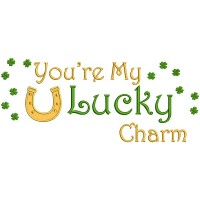 You're My Lucky Charm Horse Shoe St. Patrick's Applique Machine Embroidery Design Digitized Pattern