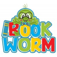Bookworm With a Big Hug School Applique Machine Embroidery Design Digitized Pattern