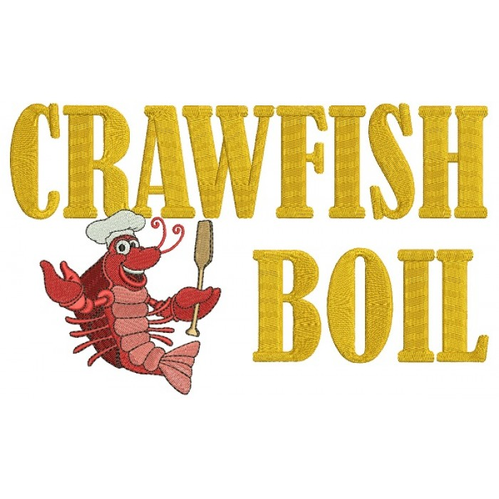 Crawfish Boil Lobster Cook Filled Machine Embroidery Design Digitized Pattern