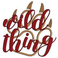 Wild Thing Bear Paw Applique Machine Embroidery Design Digitized Pattern
