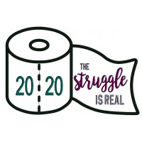 2020 The Struggle Is Real Applique Machine Embroidery Design Digitized Pattern