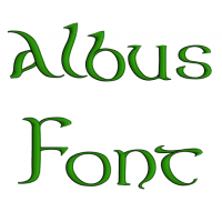 Albus Font Machine Embroidery Script Upper and Lower Case 1 2 3 inches