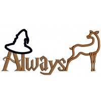 Always Sorting Hat and Patronus Looks Like Harry Potter Applique Machine Embroidery Design Digitized Pattern
