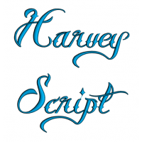 Harvey Script Machine Embroidery Font Upper and Lower Case 1 2 3 inches