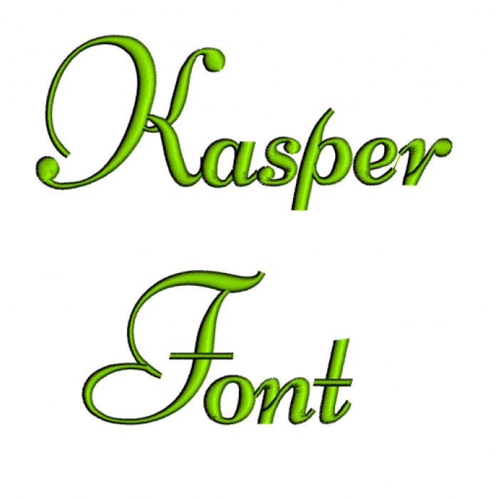 Kasper Font Machine Embroidery Script Upper and Lower Case 1 2 3 inches