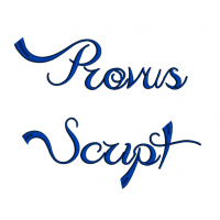 Provus Script Machine Embroidery Font Upper and Lower Case 1 2 3 inches