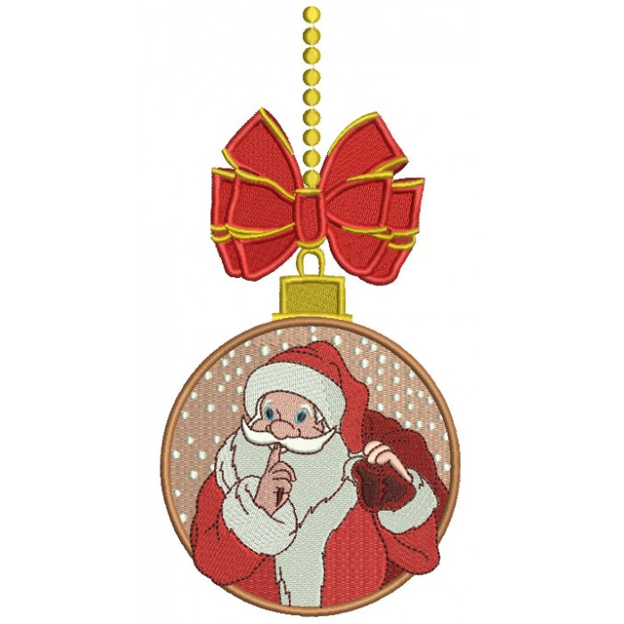 Santa Claus Christmas Ornament Christmas Filled Machine Embroidery Design Digitized Pattern