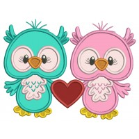 Two Cute On Love With a Big Heart Applique Valentine's Day Machine Embroidery Design Digitized Pattern