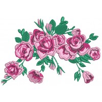 Beautiful Red Roses Applique Machine Embroidery Design Digitized Pattern