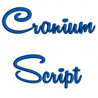Cranium Script Machine Embroidery Font Upper and Lower Case 1 2 3 inches
