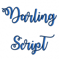 Darling Script Machine Embroidery Font Upper and Lower Case 1 2 3 inches