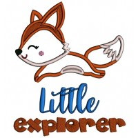 Little Explorer Fox Applique Machine Embroidery Design Digitized Pattern
