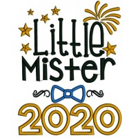 Little Mister 2000 New Year Applique Machine Embroidery Design Digitized Pattern