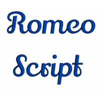 Romeo Script Machine Embroidery Font Upper and Lower Case 1 2 3 inches