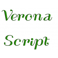 Verona Script Machine Embroidery Font Upper and Lower Case 1 2 3 inches