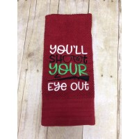 "You""ll Shoot Your Eye Out Christmas Filled Machine Embroidery Design Digitized Pattern"