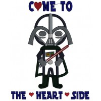 Come To The Heart Side Looks Like Darth Vader From Star Wars Applique Machine Embroidery Design Digitized Pattern