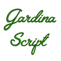 Gardina Script Machine Embroidery Font Upper and Lower Case 1 2 3 inches