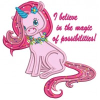 I Believe In The Magic Of Possibilities Unicorn Applique Machine Embroidery Design Digitized Pattern