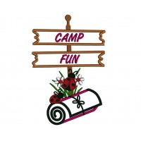 Ladybug Camp Fun Applique Machine Embroidery Design Digitized Pattern