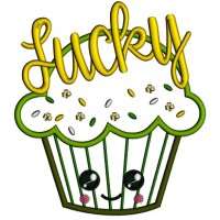 Lucky Cupcake St. Patrick's Applique Machine Embroidery Design Digitized Pattern