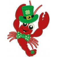 Lucky Lobster St. Patrick's Applique Machine Embroidery Design Digitized Pattern