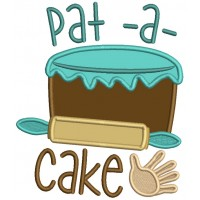 Pat-A-Cake Cooking Nursery Rhimes Applique Machine Embroidery Design Digitized Pattern