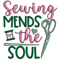 Sewing Mends The Soul Applique Machine Embroidery Design Digitized Pattern