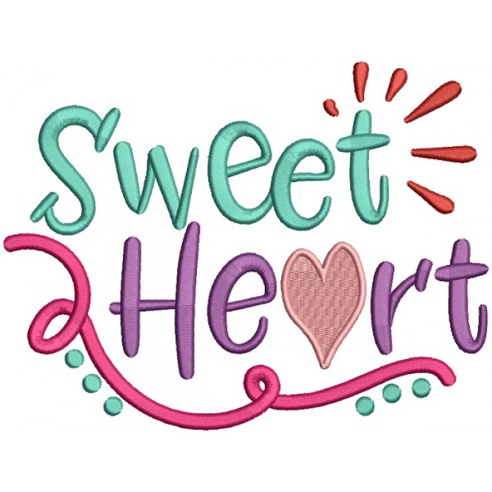 Sweet Heart Love Filled Machine Embroidery Design Digitized Pattern