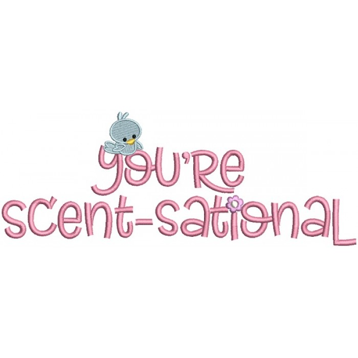 You're Scent-Sational Easter Filled Machine Embroidery Design Digitized Pattern