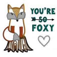 You're So Foxy Applique Machine Embroidery Design Digitized Pattern