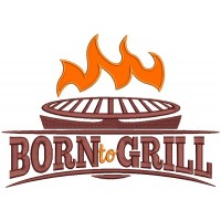 Born To Grill Cooking Applique Machine Embroidery Design Digitized Pattern