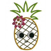 Cute Little Pineapple Applique Machine Embroidery Design Digitized Pattern