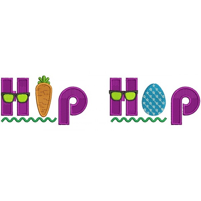 Hip Hop Easter Filled Machine Embroidery Design Digitized Pattern