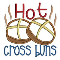 Hot Cross Buns Applique Machine Embroidery Design Digitized Pattern