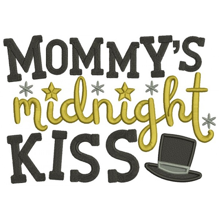 Mommy's Midnight Kiss New Year Filled Machine Embroidery Design Digitized Pattern