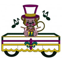 monkey playing drums mardi gras applique machine embroidery design digitized pattern. Black Bedroom Furniture Sets. Home Design Ideas