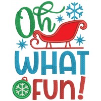 Oh What a Fun Christmas Applique Machine Embroidery Design Digitized Pattern