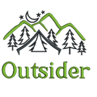 Outsider Mountains And Trees Applique Machine Embroidery Design Digitized Pattern