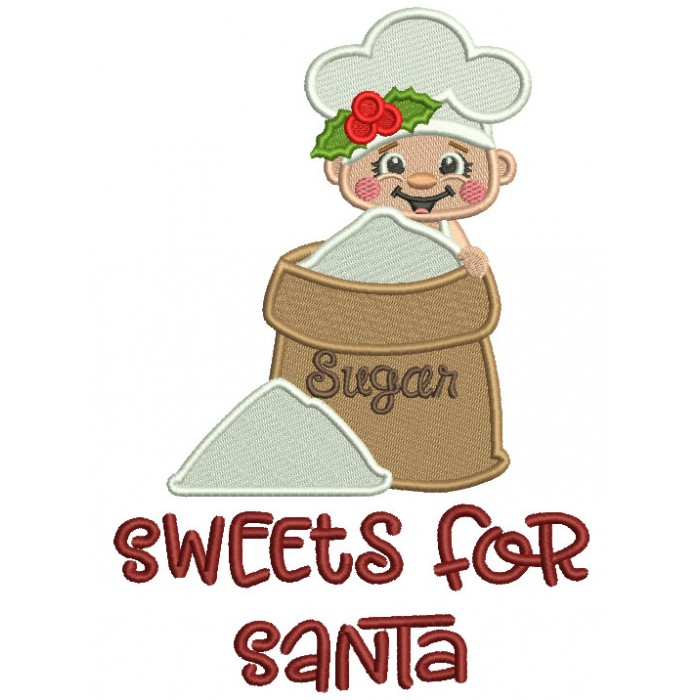 Sweets For Santa Cook Christmas Filled Machine Embroidery Design Digitized Pattern