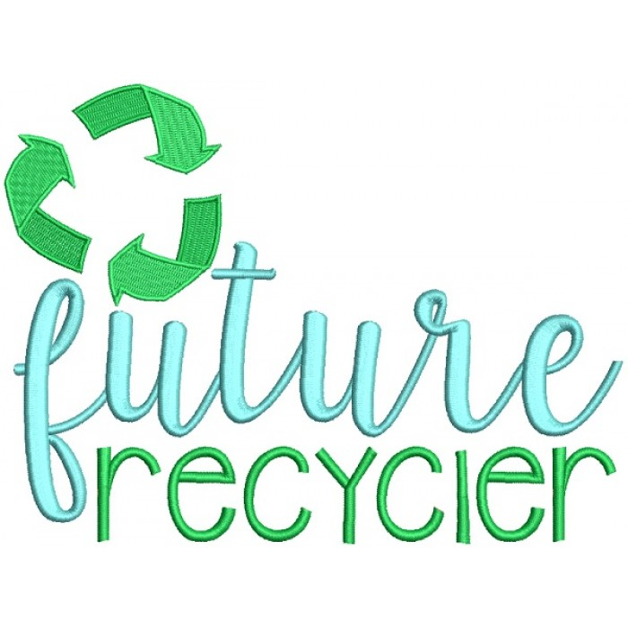 Future Recycler Filled Machine Embroidery Design Digitized Pattern
