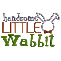Handsome Little Wabbit Easter Applique Machine Embroidery Design Digitized Pattern