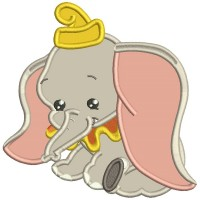 Looks Like Dumbo The Elephant Applique Machine Embroidery Design Digitized Pattern