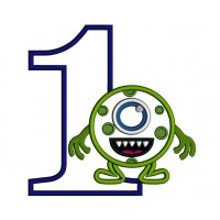 First Birthday Looks Like From Mike Wazowski Monsters Inc Applique Machine Embroidery Design Digitized Pattern
